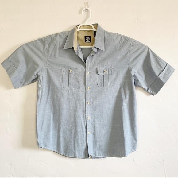 Timberland Other - Timberland Men's Blue Button Shirt